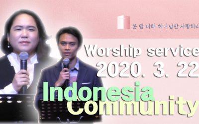 인도네시아어 설교 – 2020.03.22