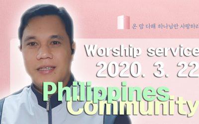 필리핀(타갈로그어) 설교 -2020.03.22
