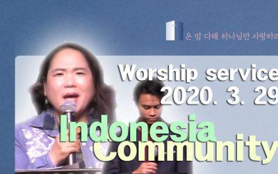 인도네시아어 설교 -2020.03.29