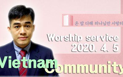 베트남어 설교 -2020.04.05